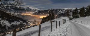 Blick auf Salzburg bei Nacht